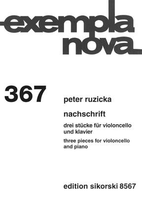 Nachschrift: Three Pieces For Cello And Piano