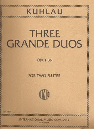 3 Grand Duos: Op39: Flute Duet