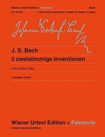 Three Two Part Inventions: Piano   (Wiener Urtext)