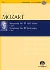 Symphony No. 25 & 29: K183 & 201: Miniature Score & Cd (Audio Series No 74)
