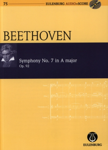 Symphony No. 7 In A Major: Op. 92: Miniature Score & Cd (Audio Series No 75)