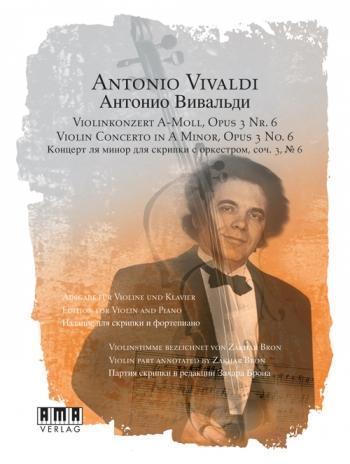 Violin Concerto: A Minor: Op. 3 No. 6: Violin & Piano: Plus Instructional Dvd