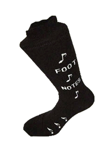 Socks With Foot Notes Design