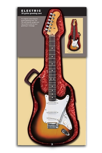 3D Card - Electric Guitar