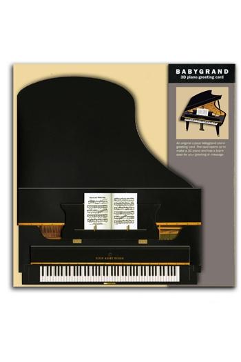 3D Card - Grand Piano