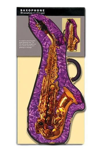 3D Card - Saxophone