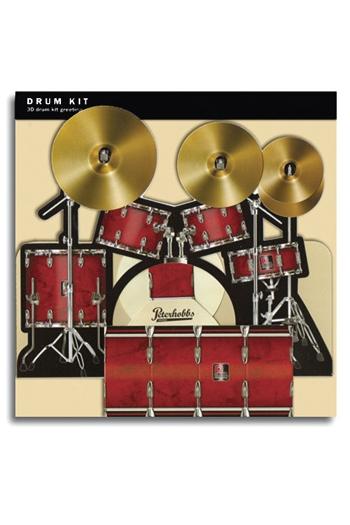 3D Card - Drum Kit