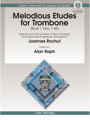 Melodious Etudes For Trombone: Book 1: No 1 - 60: Book And Audio