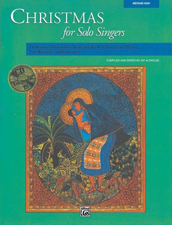 Christmas For Solo Singers: Medium High For Solo Voice & Piano: Bk&Cd