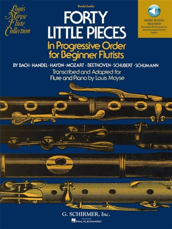 40 Little Pieces: Flute & Piano: Book & Audio Download (Moyse) (Schirmer)