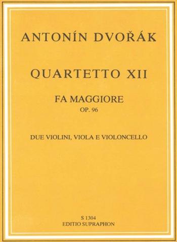 String Quartet: No12: Op96: F Major: American: Study Score