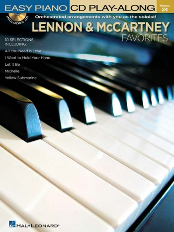 Easy Piano Play Along: Lennon And Mccartney Favourites: Vol 24: Book And CD