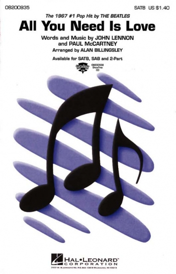 All You Need Is Love: Beatles: Vocal SATB (Billingsley)