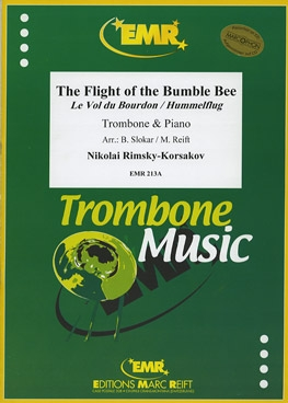 Flight Of The Bumble Bee: Trombone Bass Clef & Piano