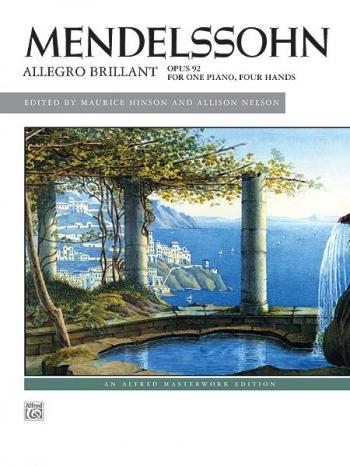 Allegro Brillant: Op92: One Piano 4 Hands