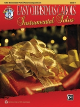 Easy Christmas Carols Instrumental Solos: Cello And Piano Acompaniment: Book & cd