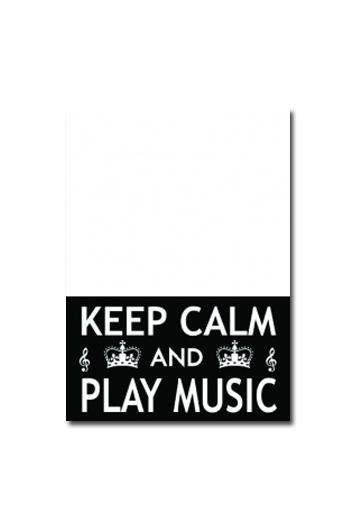 Slant Notepad - Keep Calm And Play Music