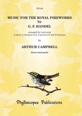 Handel Music For The Royal Fireworks For Wind Octet:  Score And Parts