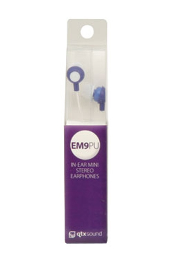 Qtxsound EM9B Mini In Ear Earphones - Purple