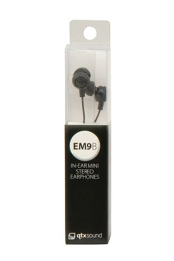 Qtxsound EM9B Mini In Ear Earphones - Black