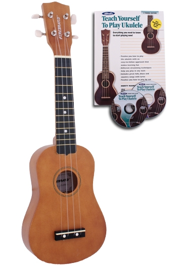 Alfred Firebrand Ukulele Firebrand Ukulele: Includes Instrument, Cover, Strings, Tutor Book, DVD & C