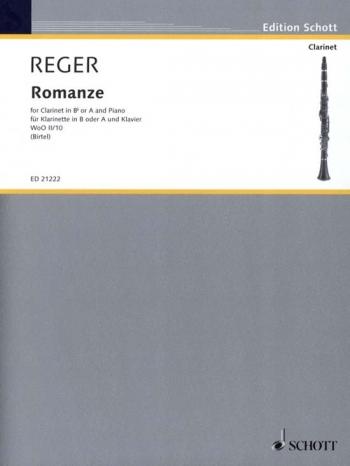 Romanze: Clarinet In A Or Bb & Piano