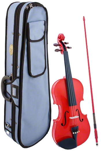 Stentor Harlequin Red Violin Outfit - 1/2 Size