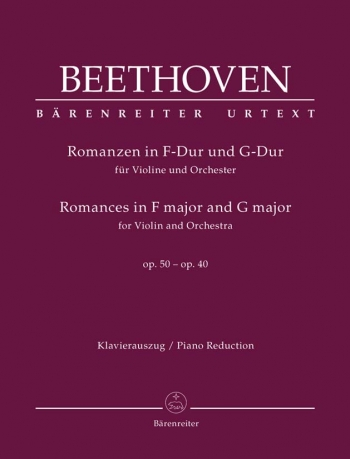 2 Romances: G Major And F Major: Op 40 & Op50: Violin & Piano (Barenreiter)