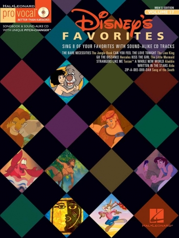 Pro Vocal: Disney Favorites: Men: Vol 17: Top Line  & Chords: Bk&Cd