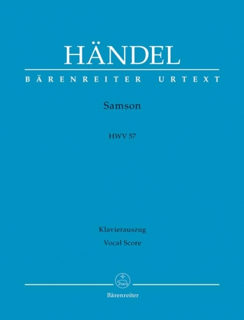 Samson: Hwv 57: Vocal Score (Barenreiter)