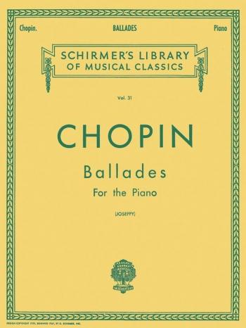 Ballads: Piano Ed Rafael Joseffy (Schirmer)