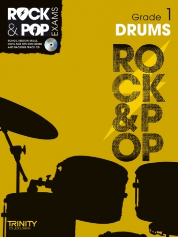 Rock & Pop Exams: Drums Grade 1: Book & Cd (Trinity)