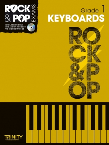 Rock & Pop Exams: Keyboard Grade 1 Book & Cd (Trinity)