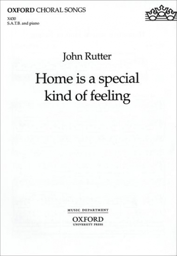 Home Is A Special Kind Of Feeling: Vocal SATB