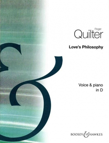 Loves Philosophy: D Maj: Op 3 No.1: Medium Voice And Piano