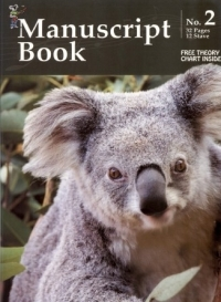 Koala Manuscript Book 2 - 32 Pages 12 Staves