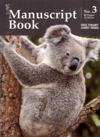 Koala Manuscript Book 3 - 48 Pages 12 Staves
