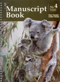 Koala Manuscript Book 4 - 96 Pages 12 Staves (Spiral Bound)