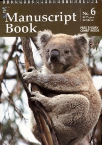 Koala Manuscript Book 6 - 48 Pages 12 Staves (Top Spiral Bound)