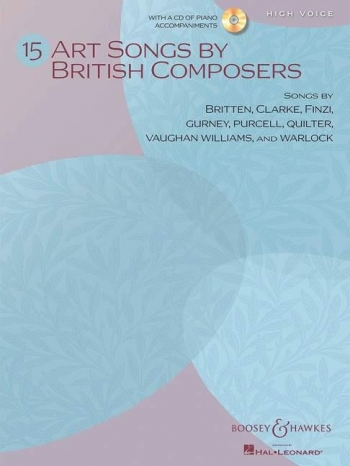15 Art Songs By British Composers: High Voice Book & CD