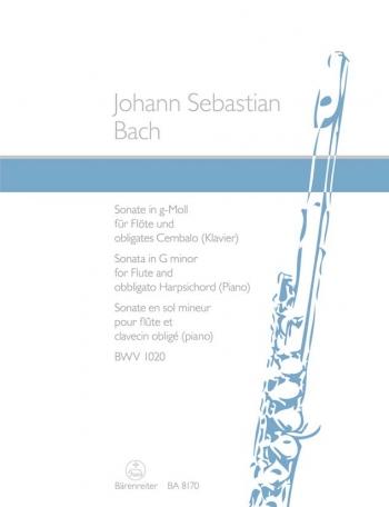 Flute Sonata G Minor BWV1020: Flute & Piano (Obbligato Harpsichord)  (Barenreiter)