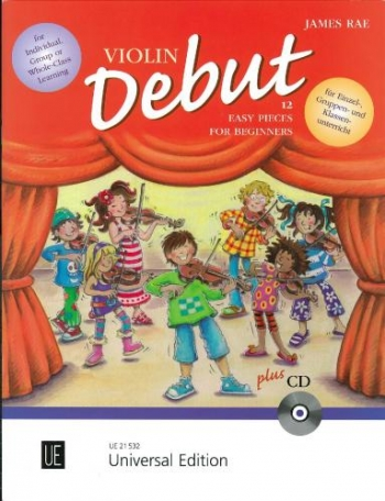 Violin Debut: 12 Easy Pieces For Beginners: Book & Cd