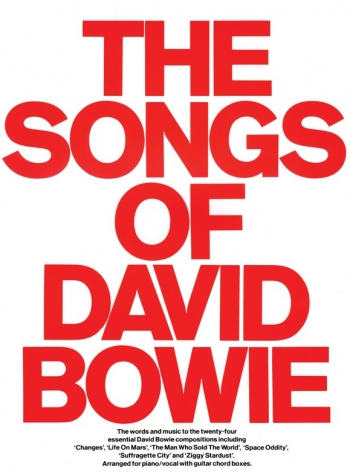 Songs Of David Bowie: Piano Vocal Guitar