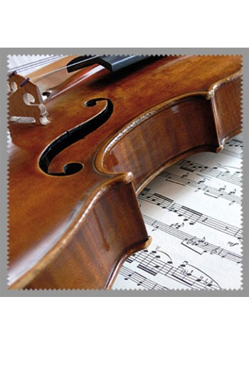 Glasses Cleaner: Violin & Sheet Music Design