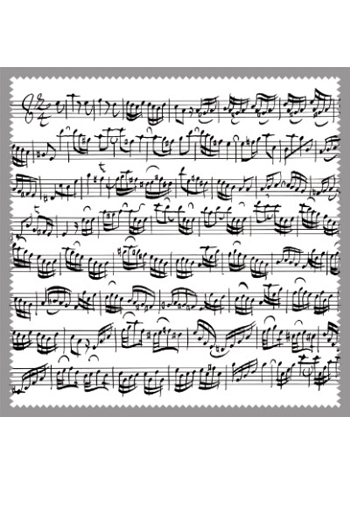 Glasses Cleaner: Sheet Music White Design