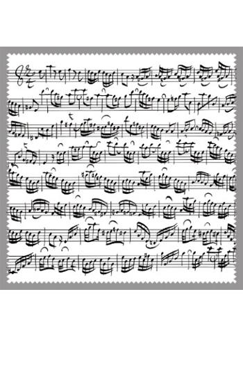 Glasses Cleaner: Sheet Music White Design