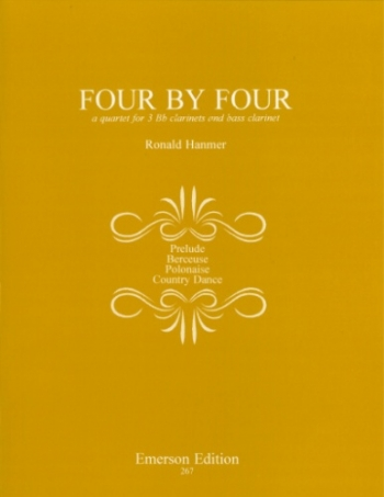 Four By Four - Clarinet Quartet (3 Bb And 1 Bass)