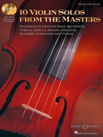 10 Violin Solos From The Masters: Violin And Piano Book & CD