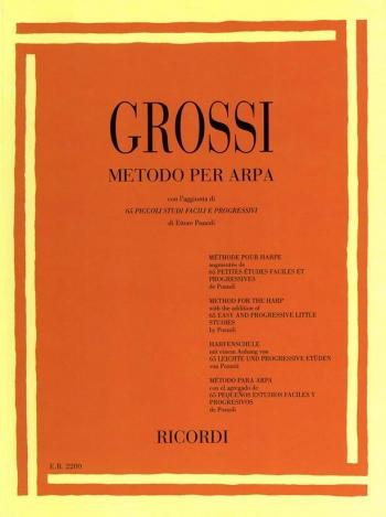 Grossi Method For Harp: Inclusing 65 Studies: Harp  (Ricordi)
