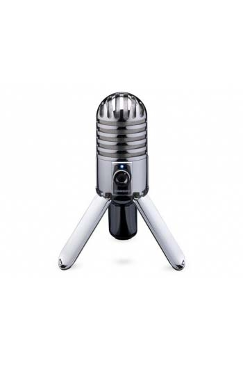 Samson Meteor USB  Microphone Chrome Plated Body With Fold-Back Legs